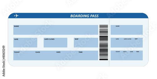 Fotografía  Boarding pass