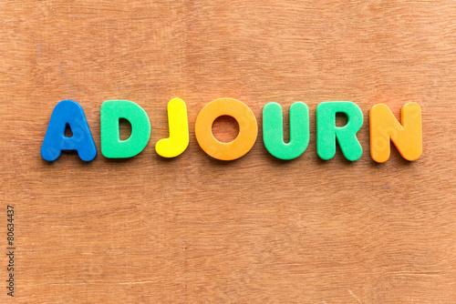 Photo adjourn