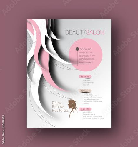 Fotografie, Obraz  Beauty Care & Salon Back Flyer & poster Template