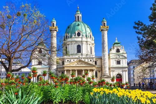 Vienna - beautiful baroque St. Charle's church