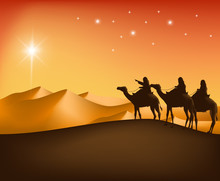 The Three Kings Riding With Ca...