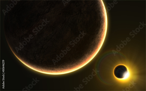 Solar eclipse in space #80646219