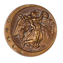 Cherub And Angel Bronze Button...