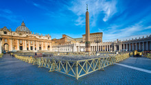 ROME,ITALY-March 24,2015: Panorama Of St. Peter's Square In Rome