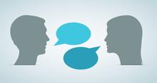 Heads Speech Bubbles