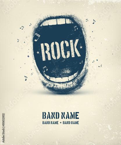 Rock Music Poster Wallpaper Mural