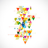 Fototapeta Teenage - Abstract colorful and creative triangle background, vector
