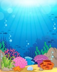 Fototapeta na wymiar Ocean underwater theme background 3