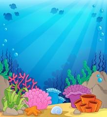 Fototapeta na wymiar Ocean underwater theme background 4