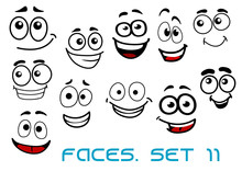 Funny Happy Faces Cartoon Characters