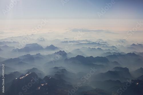 Photo  Mountains bird's-eye view