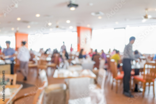 Blurred people in the cafeteria Fototapet