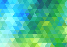 Abstract Green Blue Triangle B...