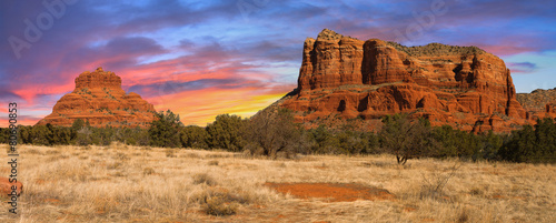 Spoed Foto op Canvas Arizona Sunset Vista of Sedona, Arizona