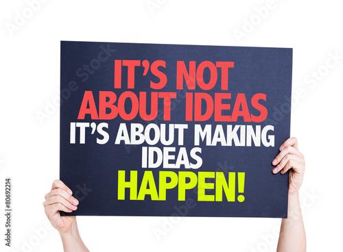 Fotografía  It's Not About Ideas Its About Making Ideas Happen card