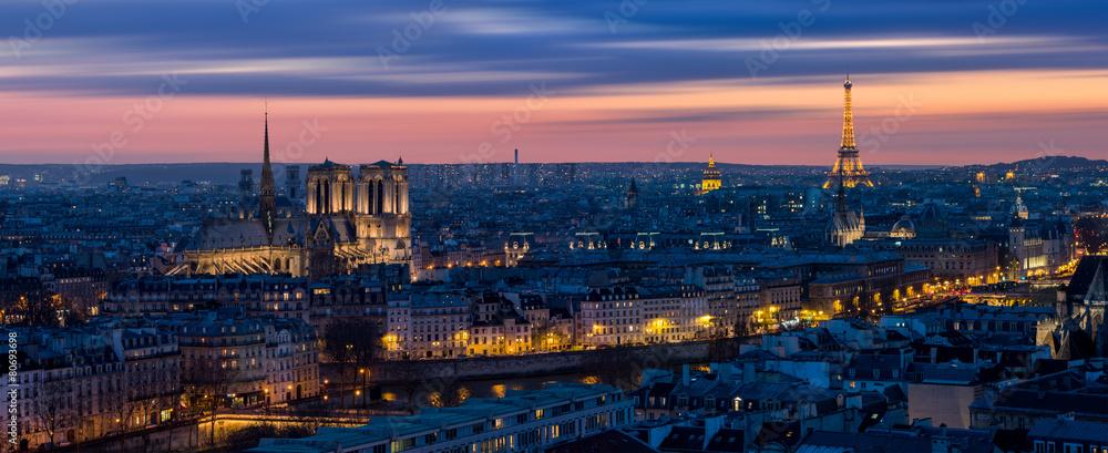 Fototapeta Paris depuis Bastille