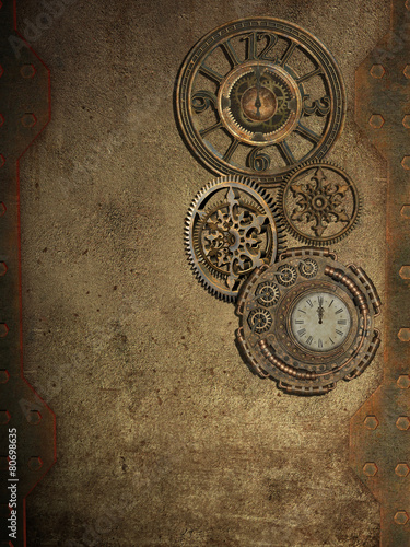 steampunk Wallpaper Mural