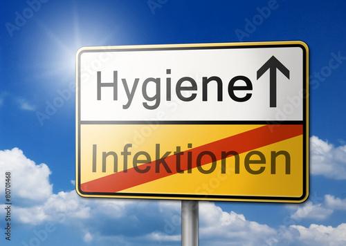 Fotografía  Hygiene Infektion Schild