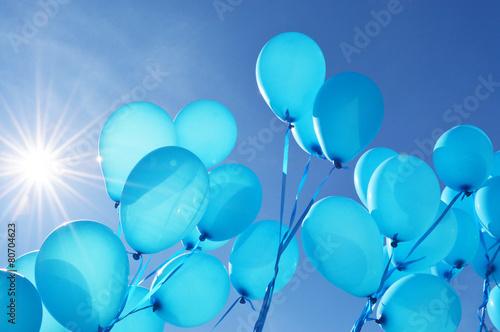 Fotografie, Obraz  Blue balloons