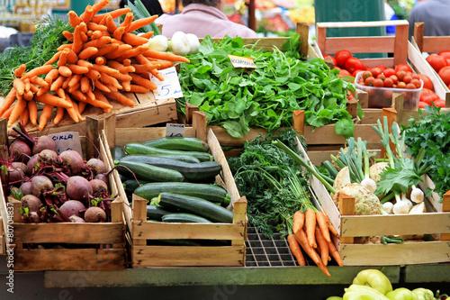 Vegetable market Fototapeta