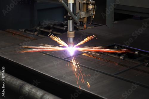 Cuadros en Lienzo Industrial cnc plasma cutting of metal plate