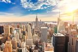 Fototapeta Nowy Jork - Manhattan aerial view