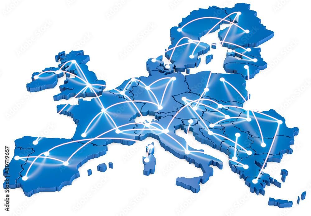 Fototapeta Europa vernetzt