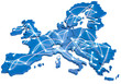 canvas print picture - Europa vernetzt