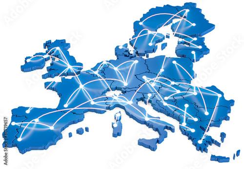 Fototapeta Europa vernetzt obraz
