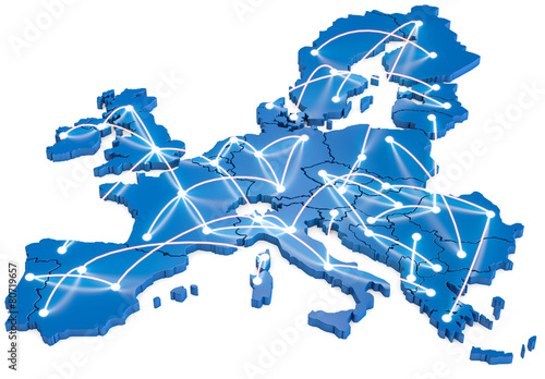 Obraz Europa vernetzt - fototapety do salonu