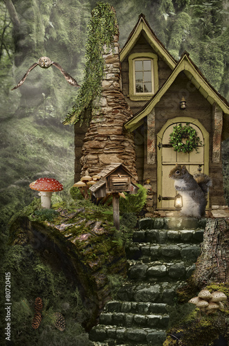 fairy house (stump) - Buy this stock photo and explore