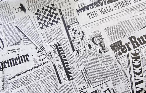 World Newspapers Canvas Print