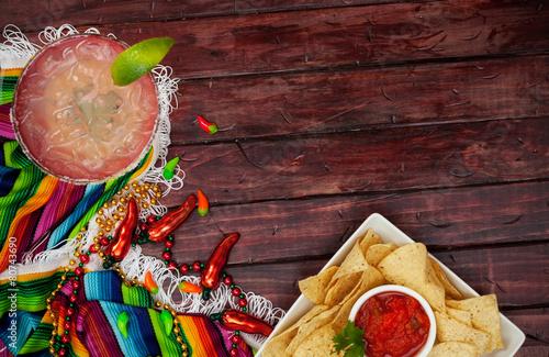 Fotografie, Obraz  Background: Cinco De Mayo Celebration With Margarita