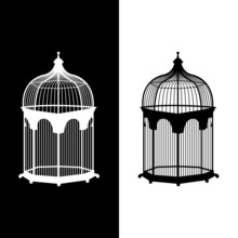 Birdcage Icons Set Great For Any Use. Vector EPS10.