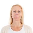 canvas print picture - Portrait woman of mature age