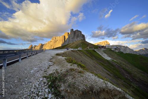 Fotografie, Obraz  Dolomity průsmyk Sella