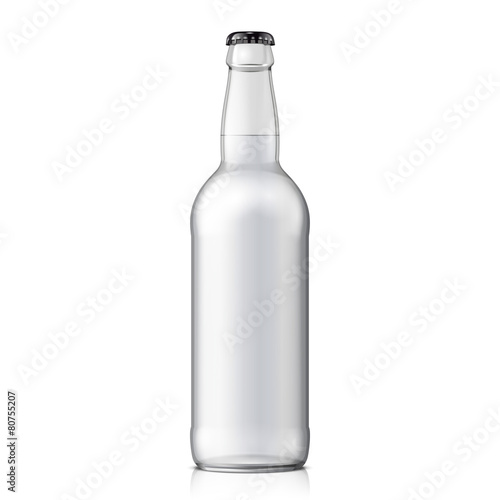 Fotografia  Mock Up Glass Beer Clean Bottle
