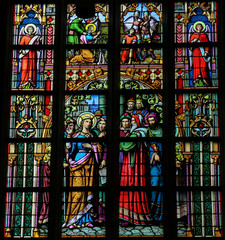 Stained Glass of Saint Catharine in Den Bosch Cathedral