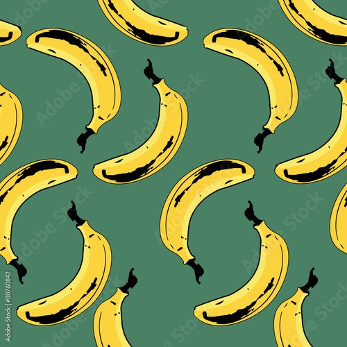 Bananas Seamless Pattern Canvas Print