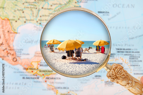 Fotografie, Obraz Beach in Florida USA