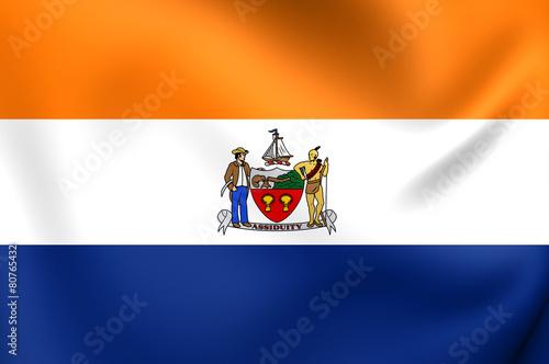 Valokuva  Flag of Albany, USA.