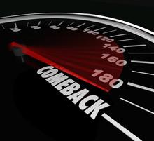Comeback Speedometer Word Retu...