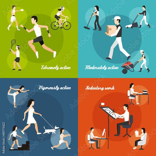 Fotografie, Obraz  Physical Activity Set