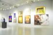 Leinwanddruck Bild - Blur or Defocus image of the lobby of a modern art center