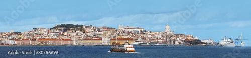 Foto auf AluDibond Blau Lisbonne Portugal