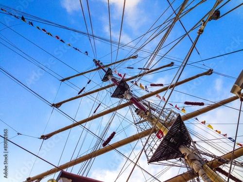 Fotografie, Obraz  tall ship's mast