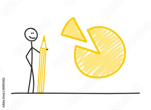 Fotografía  sm mit bleistift kuchen diagramm I