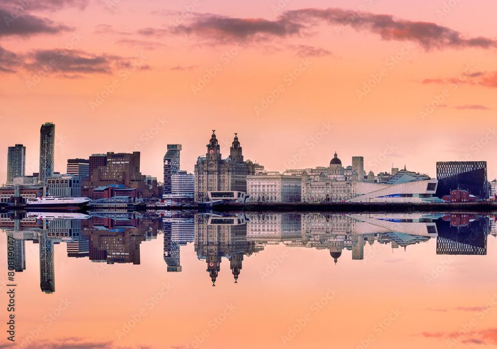 Fototapety, obrazy: Panoramic skyline liverpool UK