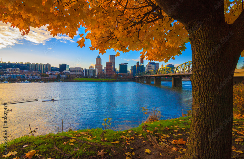 Fototapety, obrazy: Portland, Oregon Waterfront