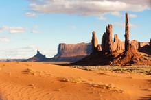 Totem Pole Rocks And Sand Dune...